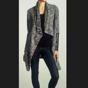Boucle Faux Leather Sleeve Jacket